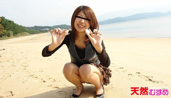 10musume 060410_01天然むすめ海辺でアワビいただきますっ小久保明日香